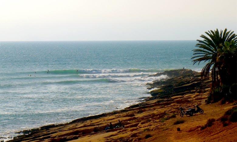 La Direction de la météorologie nationale prévoit pour la journée du jeudi des températures de l'ordre de 35/40°C sur le nord des provinces du Sud et la mer belle à agitée sur les côtes atlantiques entre El Jorf et Tarfaya. Ph : DR