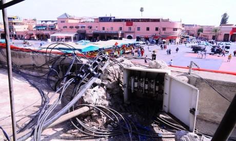 Les commerçants de Jamaâ El Fna dénoncent l'état du réseau électrique
