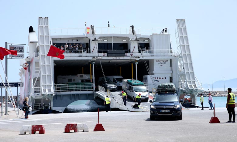 Un pic journalier a été enregistré durant la journée du 29 juillet correspondant à l'entrée de 33.091 passagers et 6.849 véhicules. Ph : MAP