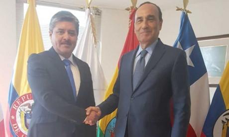 Entretiens de Habib El Malki avec des responsables du Parlement andin