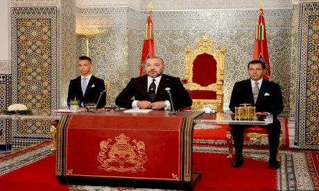 Sa Majesté le Roi Mohammed VI adressera lundi soir un discours à la Nation