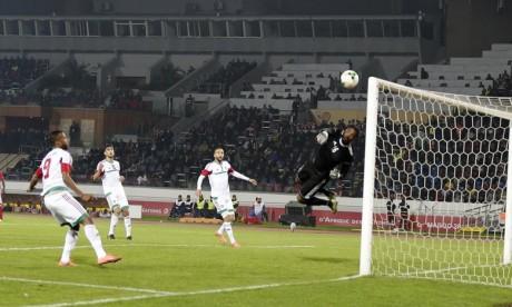 Les poulains de Jamal Sellami ont dominé la rencontre grâce aux buts de Taoufik Taib Bilal Achraf et Zakaria Ghailane. La sélection nationale jouera son deuxième match face à son homologue libyenne. Ph : MAP