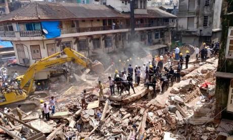 Inde : Effondrement meurtrier d'un immeuble à New Delhi