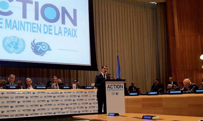 S.M. le Roi apporte un «appui déterminé» à l'Initiative «Action pour le maintien de la paix» du Secrétaire général des Nations unies