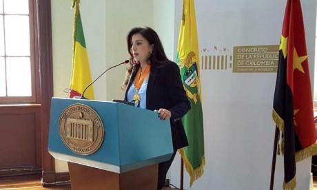 L'ambassadrice du Maroc  en Colombie, invitée spéciale du dixième Congrès national de la CGT