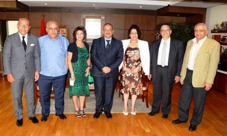 La mise à niveau de l'entreprise de presse au centre d'entretiens de Mohamed Laâraj avec une délégation de la FMEJ