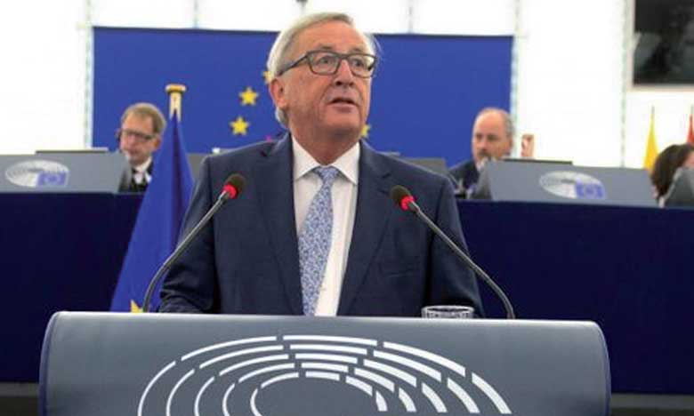 Jean-Claude Juncker   Président de la Commission européenne, hier, devant le Parlement européen