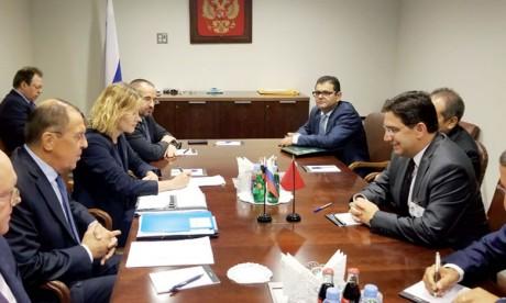Nasser Bourita s'entretient à New York avec son homologue russe Sergueï Lavrov