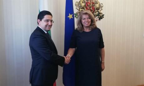 Nasser Bourita reçu en audience par la Vice-Présidente bulgareNasser Bourita reçu en audience par la Vice-Présidente bulgare