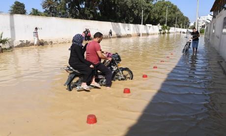 Les intempéries sévissent en Tunisie