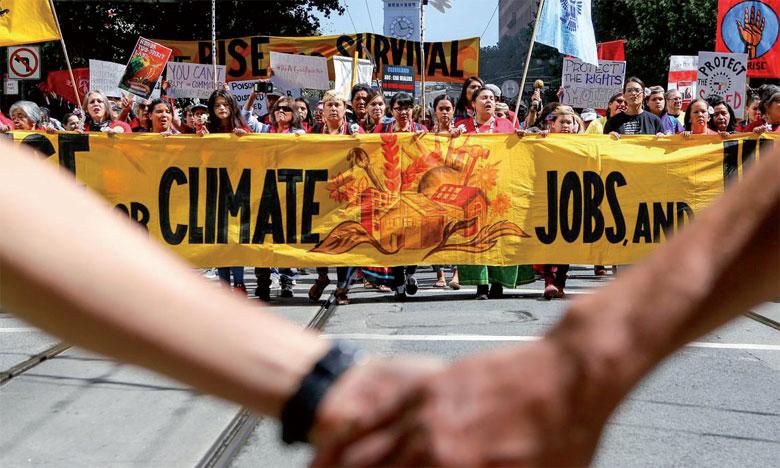 À la vielle du Sommet de San Francisco pour l'action climatique, le patron de l'ONU a exhorté les sociétés civiles à être plus exigeantes envers leurs  gouvernements respectifs pour la protection du climat. La photo montre une marche  pour le climat à San Francisco. Ph. AFP