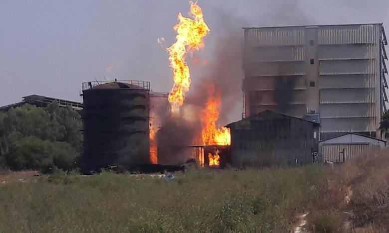 Le feu ravage une usine à Kénitra