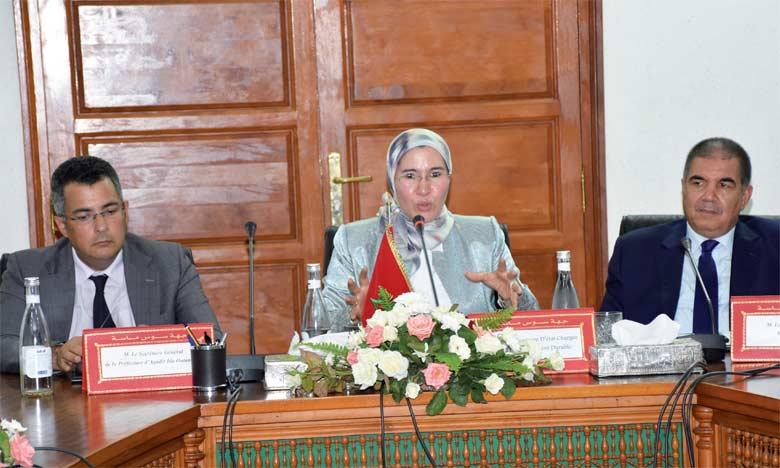 Signature d'une convention-cadre sur l'environnement entre le secrétariat d'État chargé du Développement durable, la wilaya de la région Souss-Massa et le Conseil de la région.