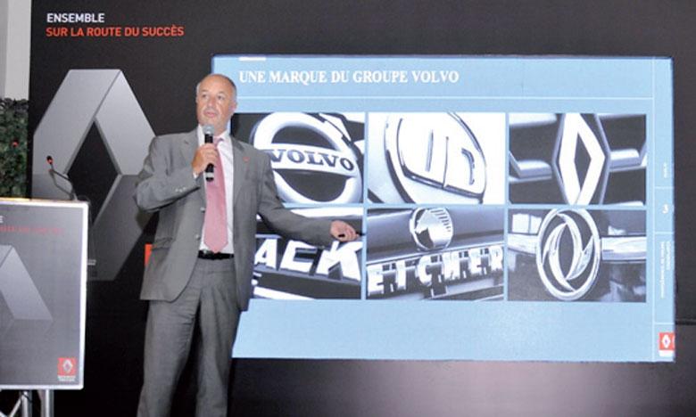 Bruno Blin, président de Renault Trucks, lors du point de presse organisé récemment à Casablanca.