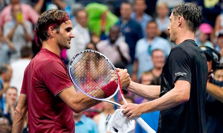 Le Suisse Roger Federer battu contre toute attente face au 55e joueur mondial, l'Australien John Millman. Ph : AFP