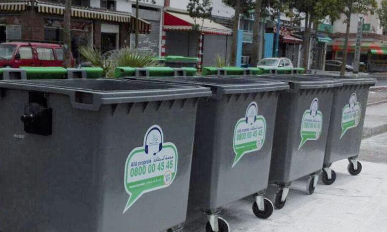 Les déchets ménagers collectés à Casablanca présentent 69,5% du total, les déchets inertes 30% et les déchets verts 0,5%. Ph. DR