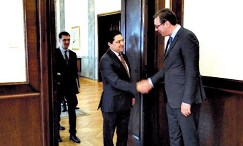 Nasser Bourita reçu en audience par le Président serbe