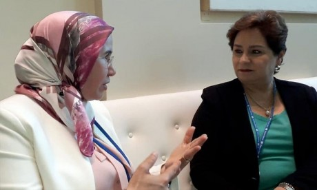 Climat : El Ouafi s'entretient à New York avec Patricia Espinosa