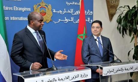 Le ministre sierra-léonais des AE loue  «le sérieux et la crédibilité» de l'initiative marocaine d'autonomie comme base de règlement au différend