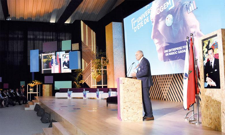 «Ce Maroc gagnant, ce Maroc qui crée de la richesse locale, des emplois et qui s'inscrit dans une démarche d'inclusion, a besoin d'une entreprise capable de relever les défis, et d'imprimer un élan pour tous», a déclaré Salaheddine Mezouar, président de la CGEM.  Ph. Saouri