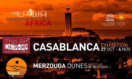 La Light Painting World Alliance met à l'honneur les Dunes de Merzouga
