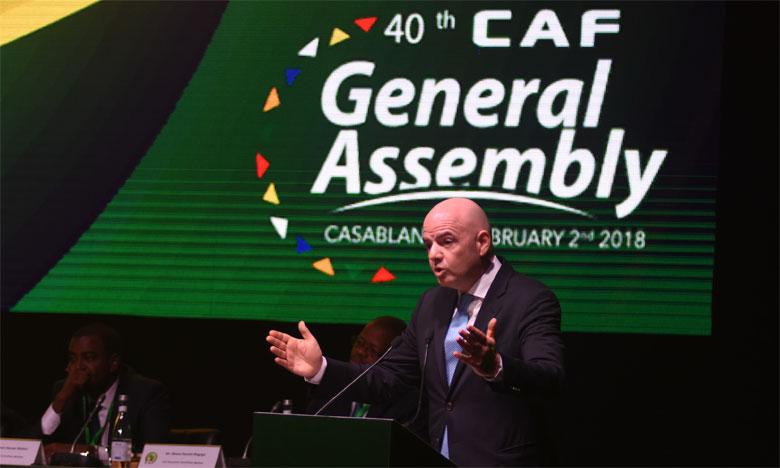 Gianni Infantino présent à l'assemblée générale, le 30 septembre