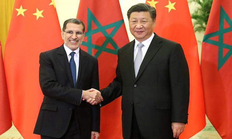 Saâd Eddine El Othmani a remis au président chinois un message écrit de S.M. le Roi Mohammed VI. Ph. DR