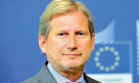 Le commissaire européen à l'élargissement et à la politique européenne de voisinage aujourd'hui au Maroc
