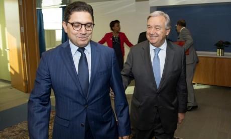 La question du Sahara marocain évoquée lors des entretiens entre Bourita et Guterres