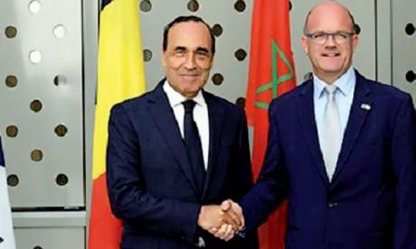 Habib El Malki s'entretient à Bruxelles avec le président du Parlement de la Fédération Wallonie-Bruxelles