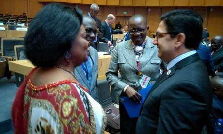 «Il est impératif de procéder à une réforme effective du CPS, pilier principal de l'Architecture africaine de paix et de sécurité qui détient des éléments importants de réponse aux facteurs d'instabilité dans le Continent africain», a relevé Nasser Bourita. Ph : DR