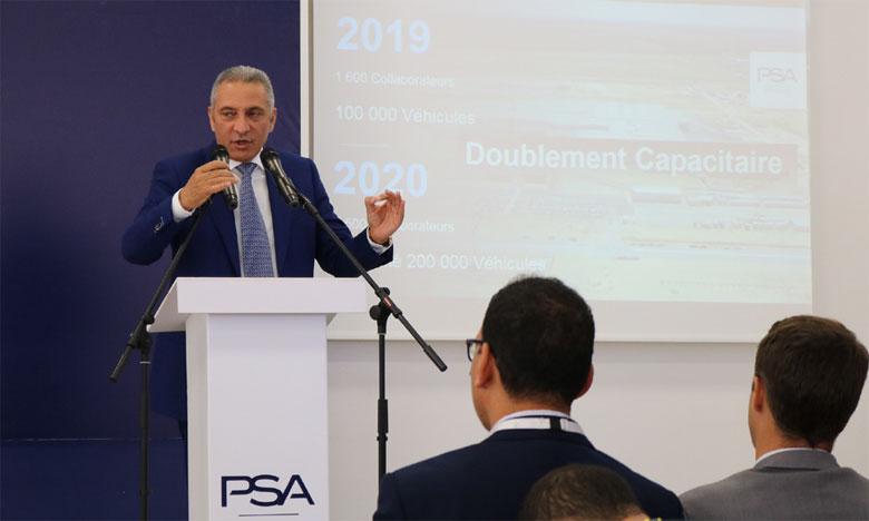 Les partenaires de l'usine PSA Kénitra se réjouissent de l'avancement du projet.