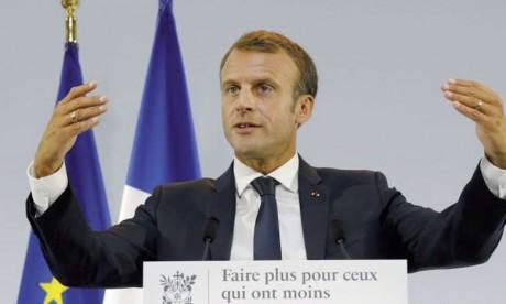Le Président français Emmanuel Macron lors de la présentation de son plan pauvreté, le 13 septembre2018 au Musée de l'Homme à Paris. Ph. AFP