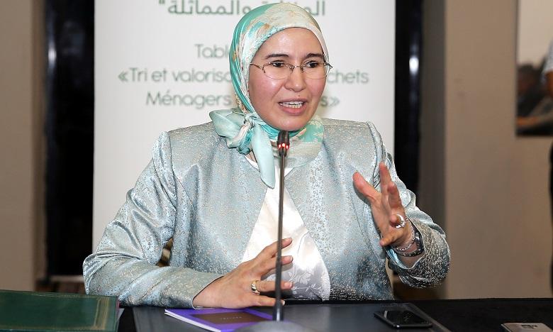 Nezha El Ouafi, Secrétaire d'État au Développement durable. Ph. Saouri