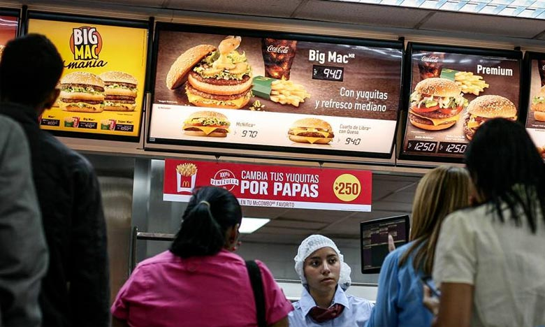 Arcos Dorados a précisé qu'il ne s'agissait pas de «fermeture de franchises» et a souligné qu'à l'heure actuelle il y a «plus de 120 restaurants» opérant au Venezuela. Ph : DR