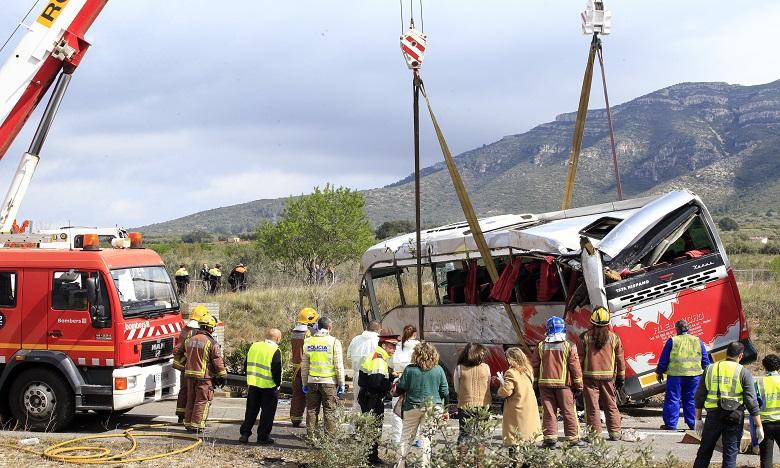 En mars 2016, en Catalogne, un accident de bus avait entraîné la mort de 13 étudiantes étrangères, en majorité italiennes. Ph. AFP/Archives