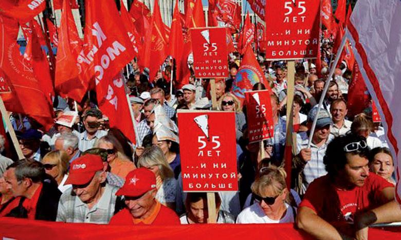 Manifestations contre le projet de réforme  des retraites
