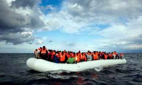 L'embarcation de très grande vitesse tentait de rejoindre la plage de Martil pour récupérer des candidats à l'émigration clandestine. Ph : DR