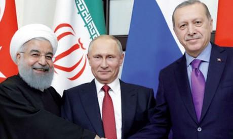 Constat de divergences entre Iran, Russie  et Turquie sur Idleb