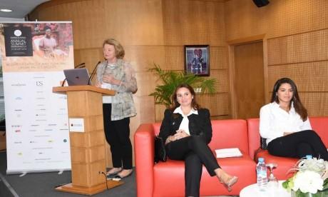 Aude de Thuin, fondatrice et présidente de Women in Africa (WIA) présente les objectifs du 2e sommet.  Ph: Saouri