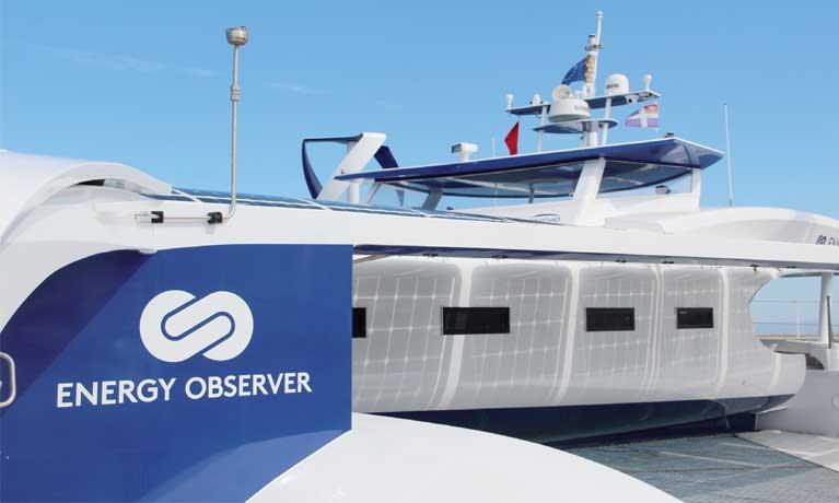 Escale de Energy Observer, le premier navire à hydrogène autour du monde