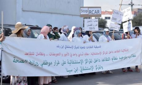 Les infirmiers et les techniciens de santé  poursuivent leur mouvement de protestation