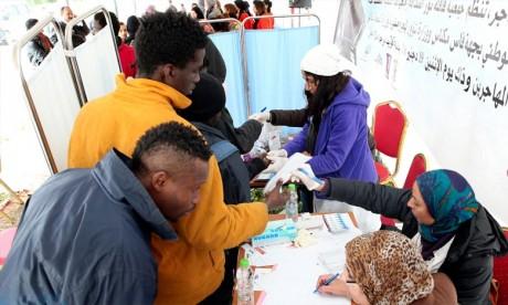 L'action bénévole au profit des ressortissants subsahariens et réfugiés au Maroc qui se tiendra, à Casablanca offrir après de 600 consultations de médecine générale. Ph : MAP