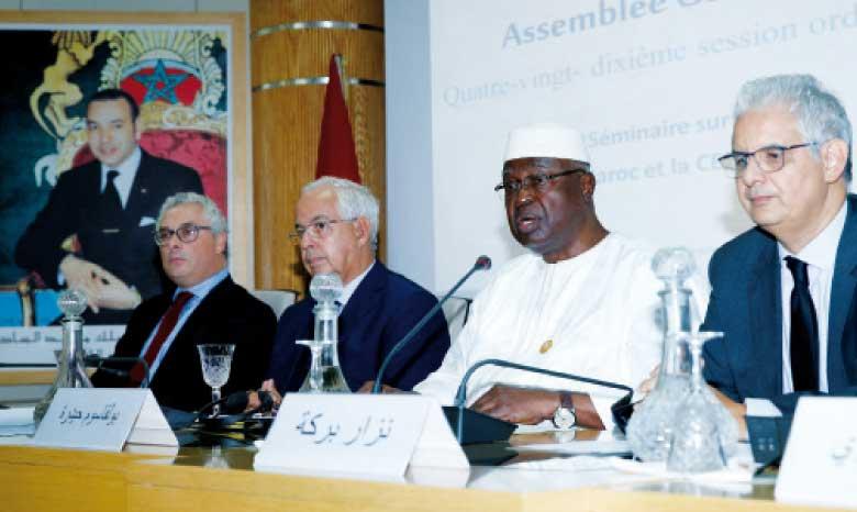 Boulkassoum Haidara, président du Conseil économique, social et culturel du Mali : le Maroc a une expertise et un savoir-faire à partager.Ph. MAP