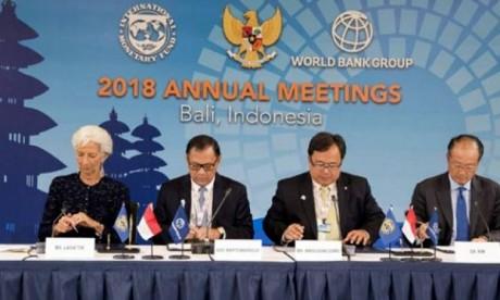 «Il faut conjuguer les efforts pour réparer le système commercial mondial, pas le détruire», a insisté Christine Lagarde, directrice du FMI. Ph : DR