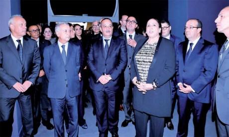 Inauguration à Salé de l'exposition  «Sites éternels, de Bâmiyân à Palmyre, voyage au cœur des sites du patrimoine universel»