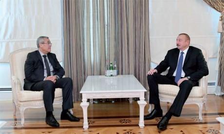 Mohamed Ben Abdelkader reçu par le Président de la République d'Azerbaïdjan, Ilham Aliyev