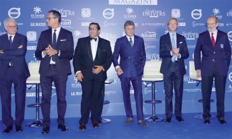 Ahmed Kseibati (troisième à gauche), organisateur des Gentlemen Drivers Awards, en compagnie du jury de cette sixième édition du concours.