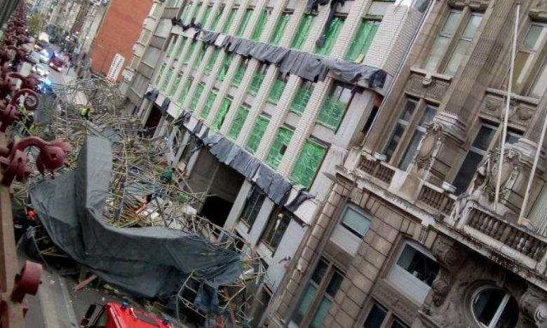Des victimes dans l'effondrement d'un échafaudage en Belgique