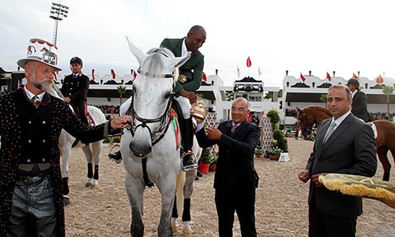 Le cavalier Abdelkebir Ouddar s'est adjugé cette épreuve, s'étant déroulée en deux manches et ayant connu la participation de cavaliers représentants 14 pays, en accomplissant un parcours sans faute en 58sec34/100e. Ph : DR